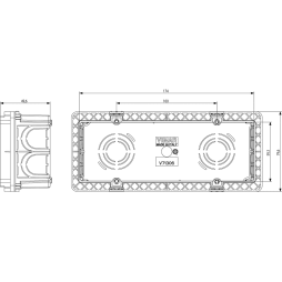 VIMAR EIKON SCATOLA INCASSO 6/7 MODULI V71306
