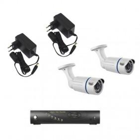 Kit videosorveglianza BPT con videoregistratore e due telecamere 64811590