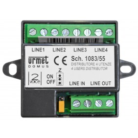 URMET 2VOICE DISTRIBUTOR 4 UTILITIES 1083/55