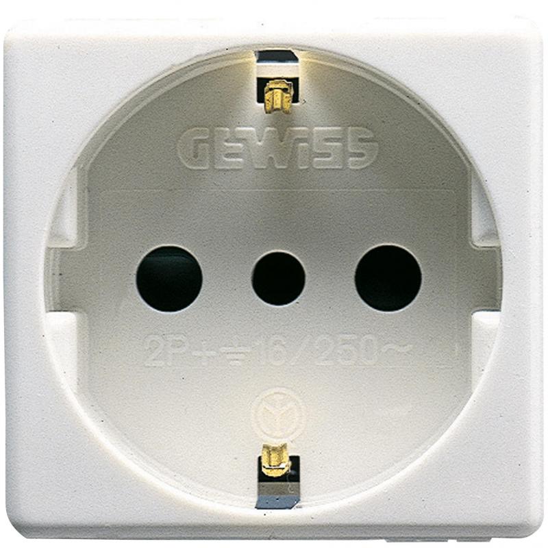 GEWISS SYSTEM PRESA SCHUKO 16A GW20205
