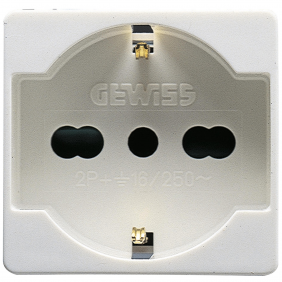 GEWISS SYSTEM PRESA SCHUKO BIPASSO 10/16A GW20246