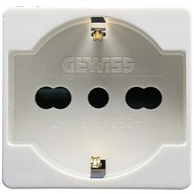 GEWISS SYSTEM SCHUKO SOCKET BYPASS 10/16A GW20246