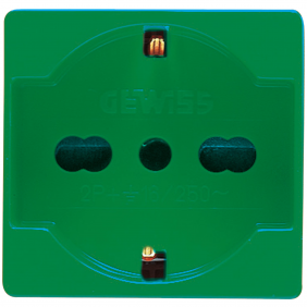 Socket Gewiss system unel German 10/16A colour green GW20282