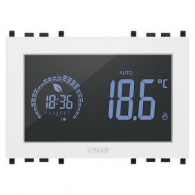 Programmable thermostat Vimar flush-mounting Touch Screen white 02955.B