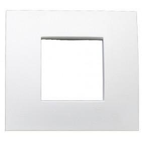 Plate ABB Etik Square 2 modules White 2CSY0201QEP