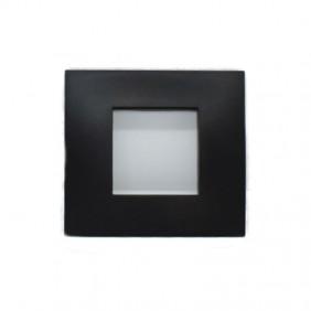 Placca ABB Etik Square 2 moduli Nero 2CSY0200QEP