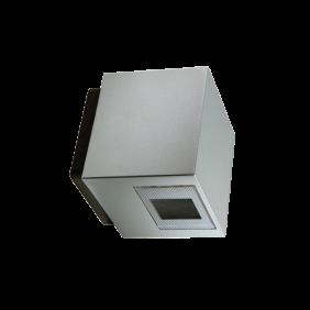 Applique Goccia k3 Miniled 2x3W Led alluminio grigio 230V 4000K 1044GR