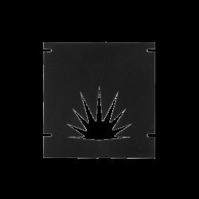 Schermo Goccia per K3 WRITER disegno foglia acciaio colore nero 1093
