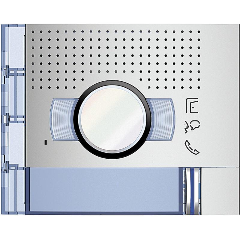 BTICINO Frontale A/V standard 1 pulsante su colonna singola finitura Allmetal 351211