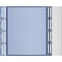 BTICINO Frontale 4 pulsanti su colonna singola finitura Allmetal 352041