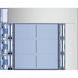 BTICINO Frontale 6 pulsanti su colonna doppia finitura Allmetal 352161