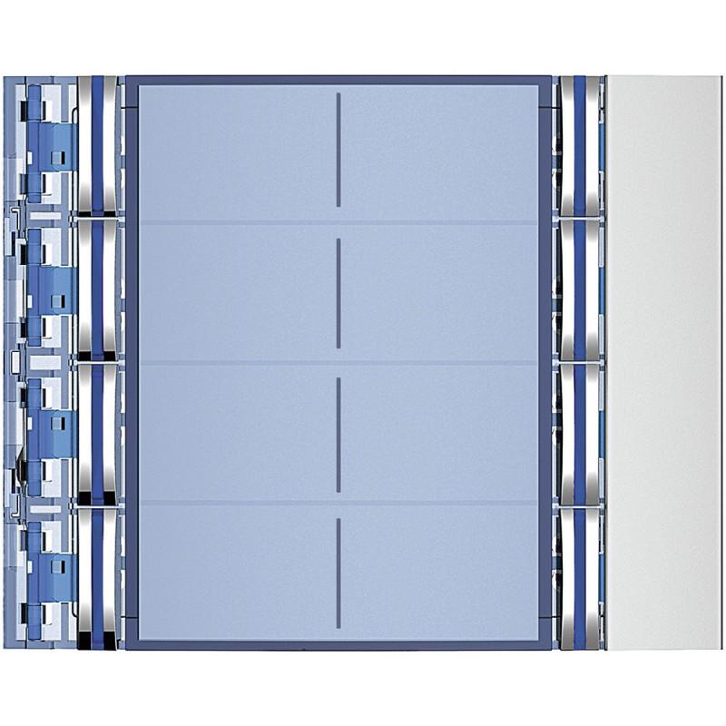 BTICINO Frontale 8 pulsanti su colonna doppia finitura Allmetal 352181