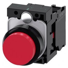 Button Siemens red plate 22mm 1NC 3SU11500AB201CA0