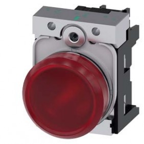 Indicatore Siemens luminoso rosso LED 24V 22mm 3SU11526AA201AA0