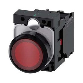 Button Siemens bright red LED 230V 22mm...