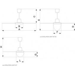 WIRBEL DECKENVENTILATOR NORDIK EVOLUTION R 140/56