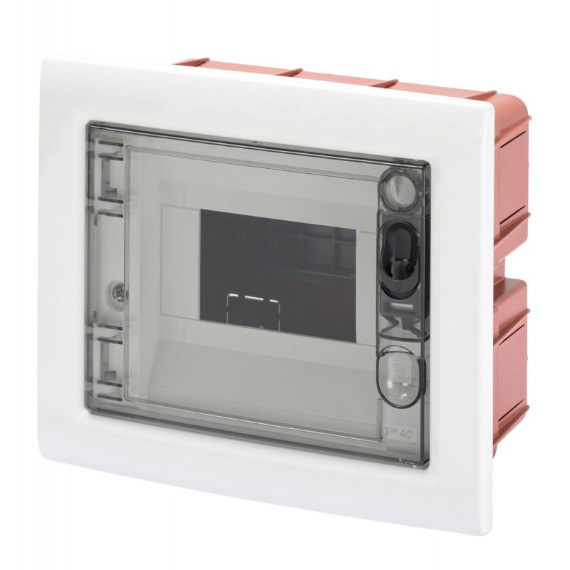 GEWISS SWITCHBOARD FLUSH SMOKED 6M IP40 GW40603