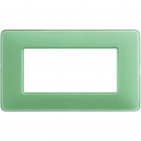 Placca Bticino Matix 4 moduli tè verde AM4804CVC