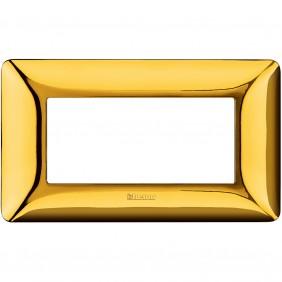 Placca Bticino Matix 4 moduli oro lucido AM4804GOR