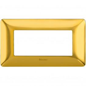 Placca Bticino Matix 4 moduli oro satinato...