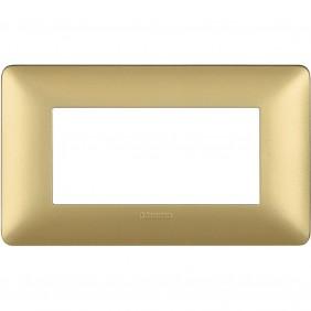 Placca Bticino Matix 4 moduli gold AM4804MGL