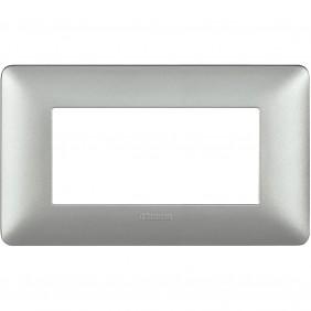 Placca Bticino Matix 4 moduli silver AM4804MSL