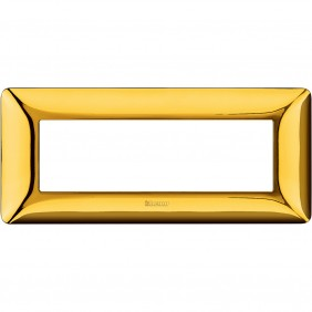 Placca Bticino Matix 6 moduli oro lucido AM4806GOR