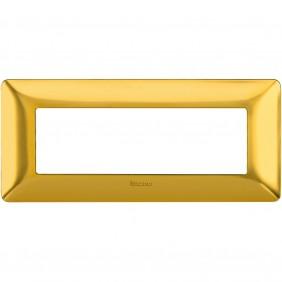 Placca Bticino Matix 6 moduli oro satinato...