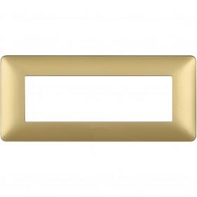 Placca Bticino Matix 6 moduli gold AM4806MGL
