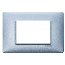 Placca Vimar Plana 3 Moduli blu metallizzato 14653.73
