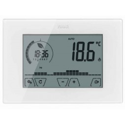 Uhrenthermostat Vimar-wand-Touch-Screen-weiß