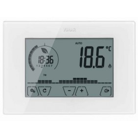 Programmable thermostat Vimar wall Touch Screen white
