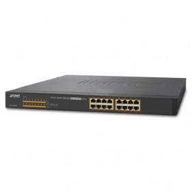 Switch Planet Ethernet PoE a 16 porte 10/100 / 1000Mbps 802.3at GSW-1600HP