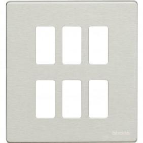 Placca Bticino Magic 3+3 Alluminio Oxidal 506/6/X