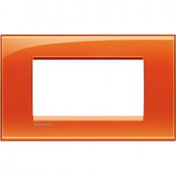 BTICINO LIVINGLIGHT PLACCA 4 MODULI QUADRA LNA4804OD