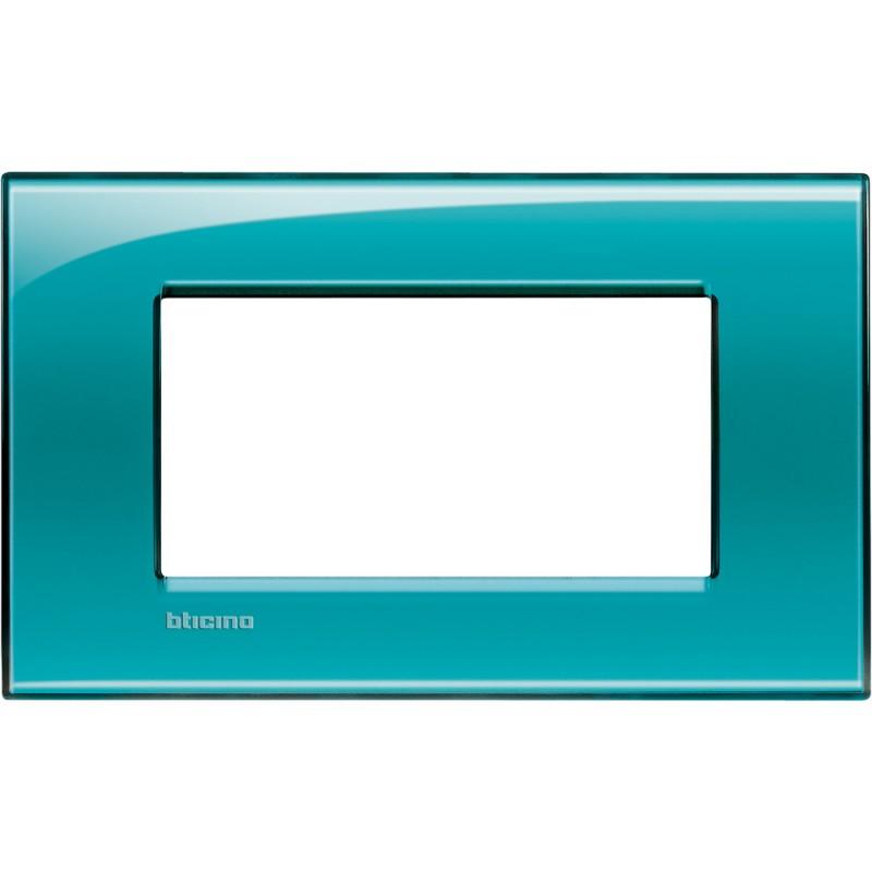BTICINO LIVINGLIGHT PLACCA 4 MODULI QUADRA LNA4804VD