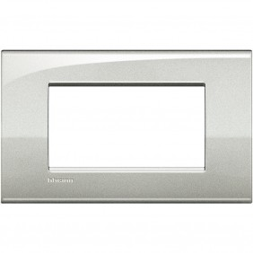 BTICINO LIVINGLIGHT PLACCA AIR 4 MODULI LNC4804GL