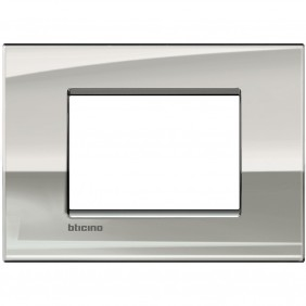 BTICINO LIVINGLIGHT PLACCA AIR 3 MODULI PALLADIO LNC4803PL