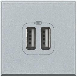 Presa caricatore USB Bticino Axolute 2 moduli HC4285C2