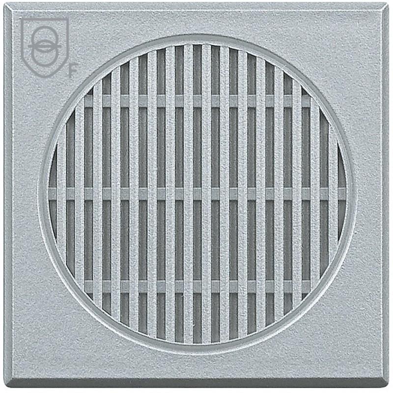 Transformador de seguridad Bticino Axolute color Gris tech para detectores de gas metano y glp.