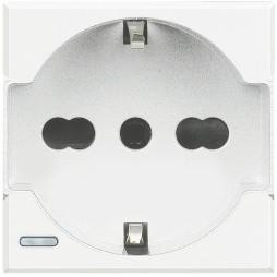 BTICINO AXOLUTE SCHUKO-STECKDOSE 10/16 WEIß HD4140A16