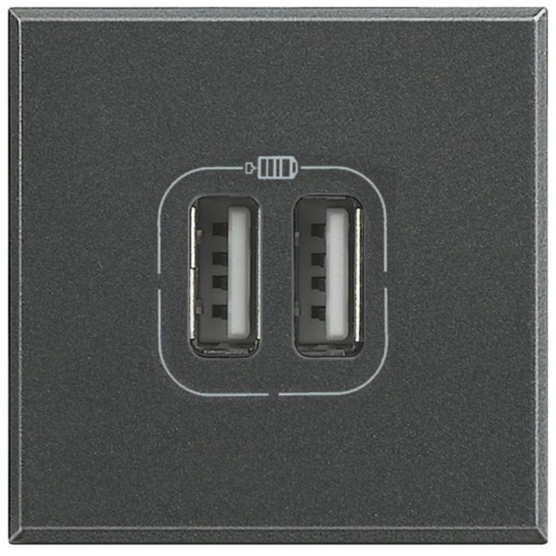 Presa caricatore USB Bticino Axolute 2 moduli HS4285C2