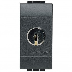 BTICINO LIVINGLIGHT SWITCH WITH KEY 16A