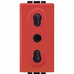 BTICINO LIVINGLIGHT SWITCH PLATE OUTLET BYPASS RED