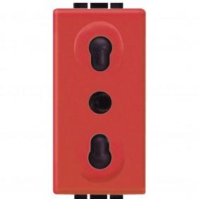 Bticino Livinglight presa bipasso rossa L4180R