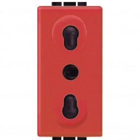 Bticino Livinglight two-way red socket L4180R