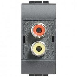 BTICINO LIVINGLIGHT CONNETTORE RCA L4269R