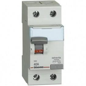 Interruttore differenziale Salvavita Bticino Puro 2P 2X40A 300MA G724AS40