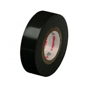Black electrical tape CELLPACK 25X25X0,15 PVC 145773