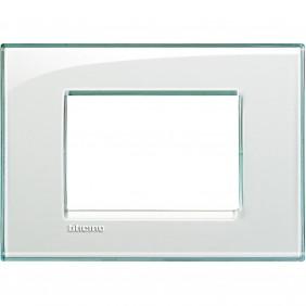 BTICINO LIVINGLIGHT PLACCA 3 MODULI QUADRA LNA4803KA
